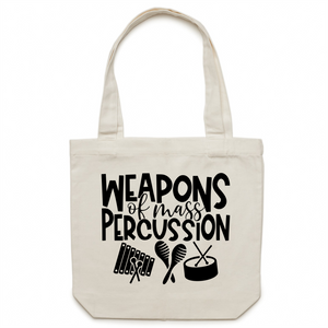 Weapons of mass percussion - Canvas Tote Bag