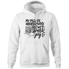 Load image into Gallery viewer, My pile of marking does not spark joy - Pocket Hoodie Sweatshirt