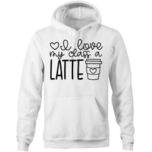 Load image into Gallery viewer, I love my students a latte - Pocket Hoodie Sweatshirt