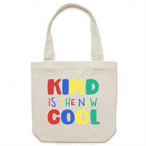 Kind is the new cool - Canvas Tote Bag
