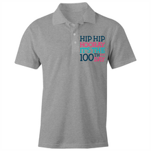 Load image into Gallery viewer, Hip Hip Hooray It's the 100th Day - S/S Polo Shirt