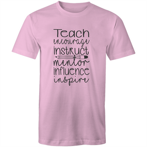 Teach, encourage, instruct, mentor, influence, inspire