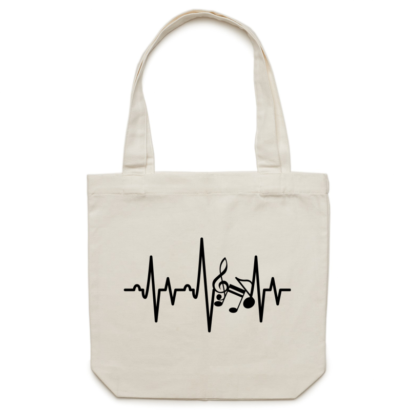 Music heartbeat - Canvas Tote Bag