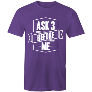 Ask 3 before me