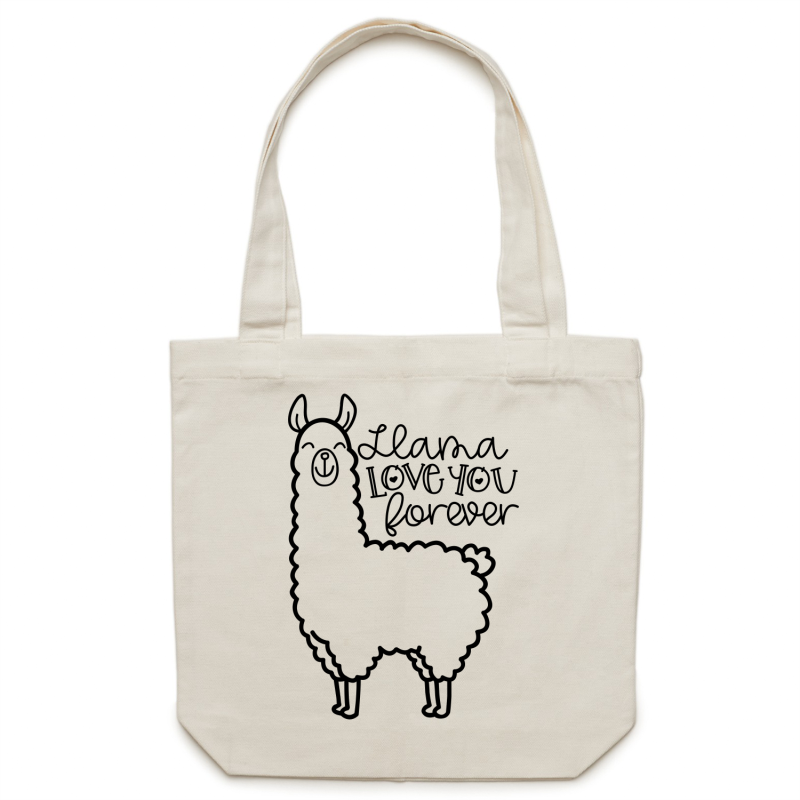 Llama love you forever - Canvas Tote Bag