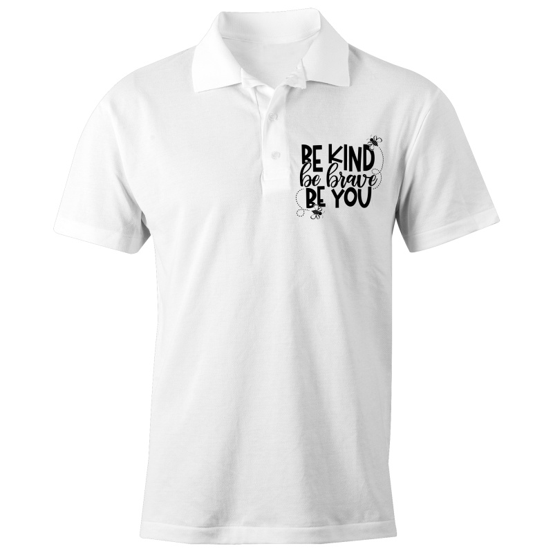 Be kind, be brave, be you - S/S Polo Shirt