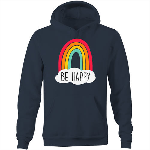 Be happy - Pocket Hoodie