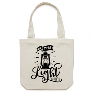 Be the light - Canvas Tote Bag