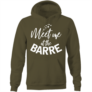 Meet me at the BARRE - Pocket Hoodie Sweatshirt