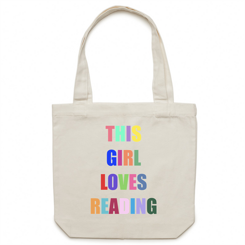 This girl loves reading - Canvas Tote Bag
