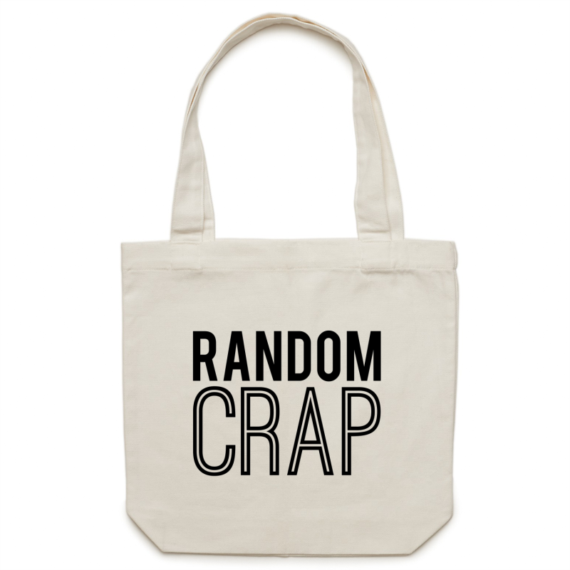 Random Crap - Canvas Tote Bag