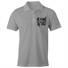 Load image into Gallery viewer, Be kind, be brave, be you - S/S Polo Shirt