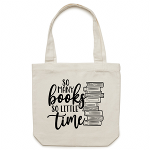 So many books so little time - Canvas Tote Bag