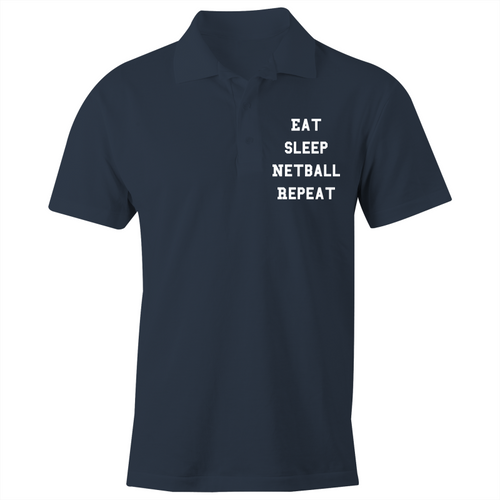 Eat Sleep Netball Repeat - S/S Polo Shirt