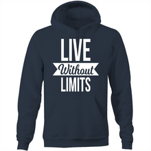Load image into Gallery viewer, Live without limits - Pocket Hoodie Sweatshirt