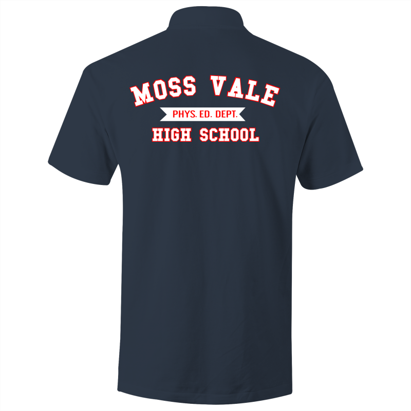 Moss Vale High Phys Ed  - S/S Polo Shirt (Design on back)