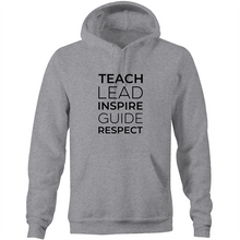 Load image into Gallery viewer, Teach, Lead, Inspire, Guide, Respect - Pocket Hoodie Sweatshirt
