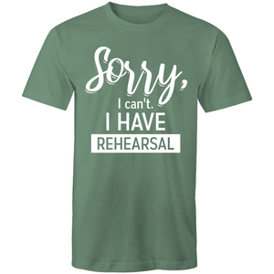 Sorry, I can't. I have rehearsal