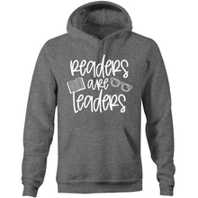 Load image into Gallery viewer, Readers are leaders - Pocket Hoodie Sweatshirt
