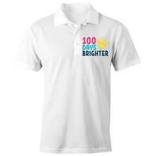 Load image into Gallery viewer, 100 Days Brighter - S/S Polo Shirt