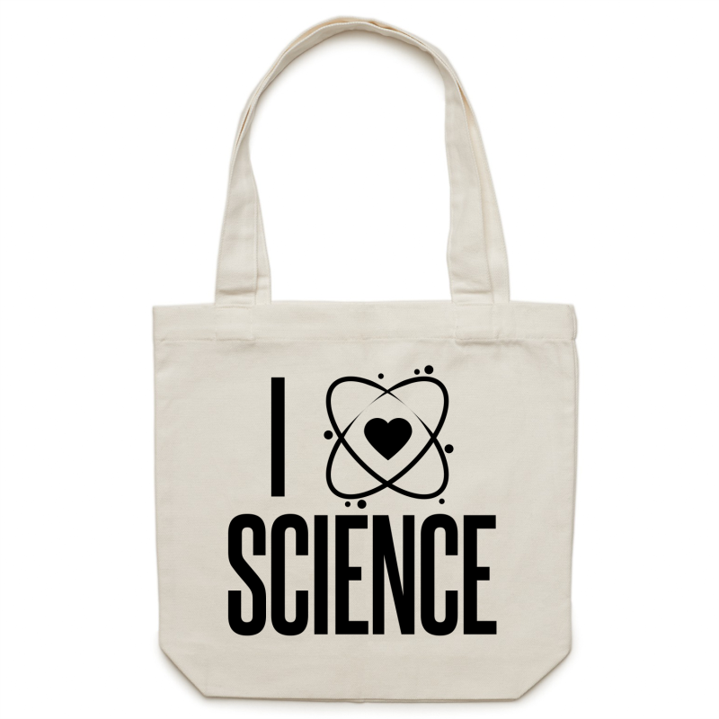 I heart science - Canvas Tote Bag