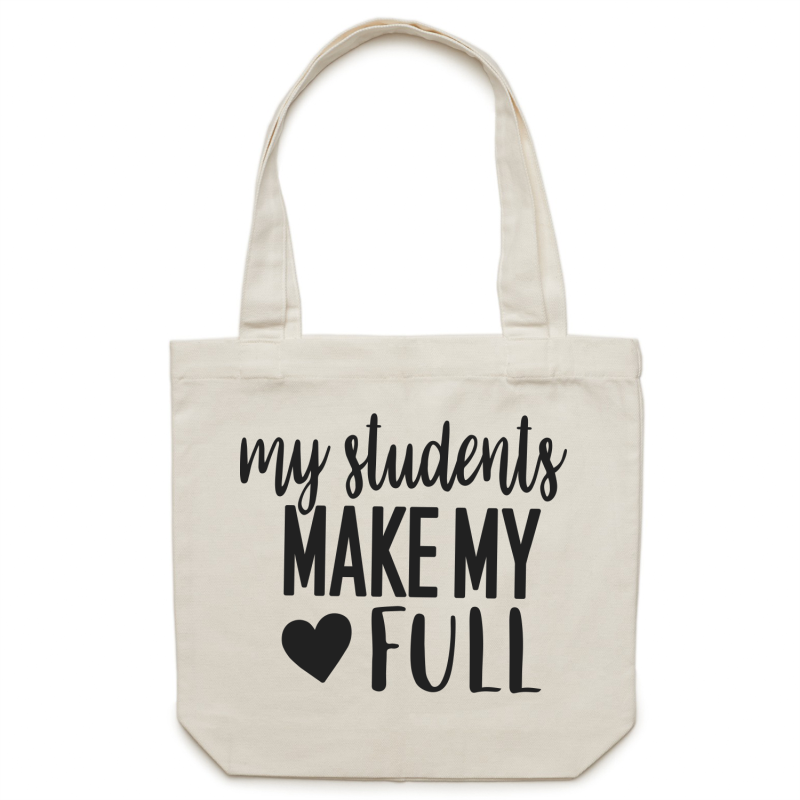 My students make my heart full - Canvas Tote Bag