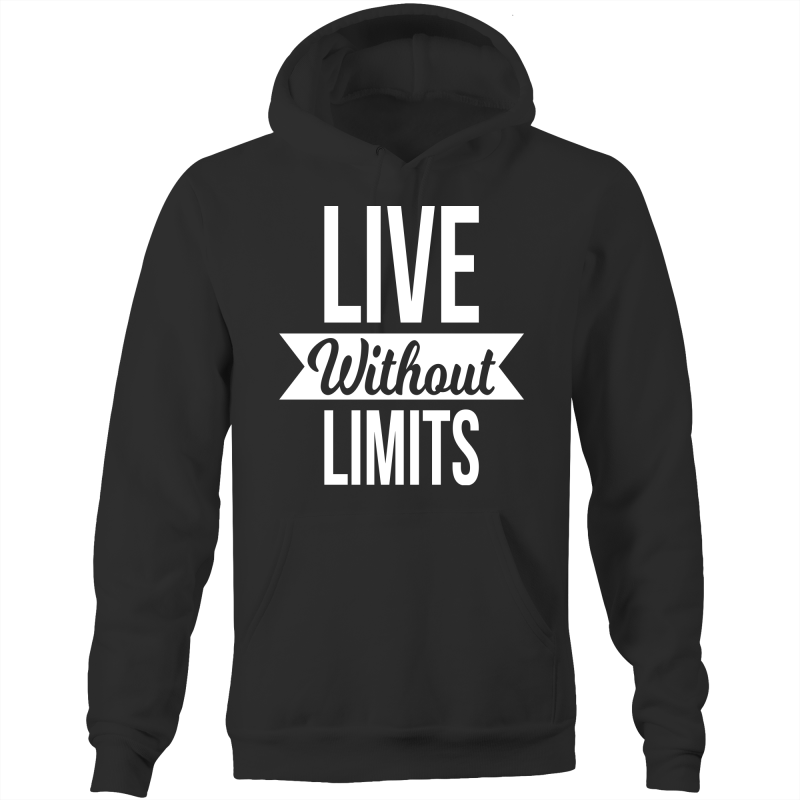 Live without limits - Pocket Hoodie Sweatshirt