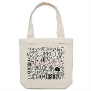 Teacher - Canvas Tote Bag