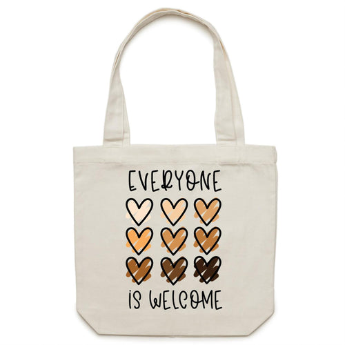 Everyone is welcome - Canvas Tote Bag