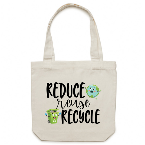 Reduce, reuse, recycle - Canvas Tote Bag