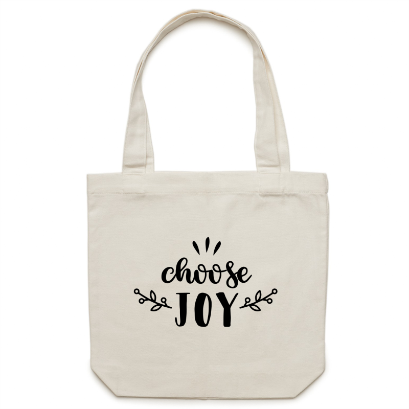 Choose Joy - Canvas Tote Bag