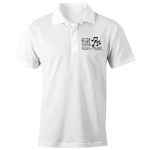 Eat, Sleep, Teach Music - S/S Polo Shirt