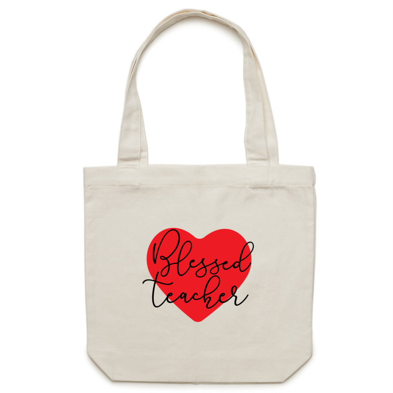 Blessed teacher - Canvas Tote Bag