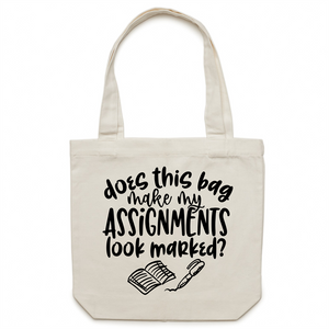 Does this bag make my assignments look marked? - Canvas Tote Bag