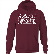 Load image into Gallery viewer, Believe in yourself - Pocket Hoodie Sweatshirt
