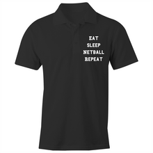 Load image into Gallery viewer, Eat Sleep Netball Repeat - S/S Polo Shirt