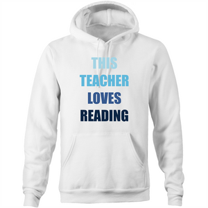 This teacher loves reading - Pocket Hoodie Sweatshirt