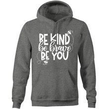 Load image into Gallery viewer, Be kind, be brave, be you - Pocket Hoodie Sweatshirt