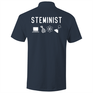 STEMINST- S/S Polo Shirt (Print on back)