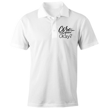 Load image into Gallery viewer, Are you okay? - S/S Polo Shirt