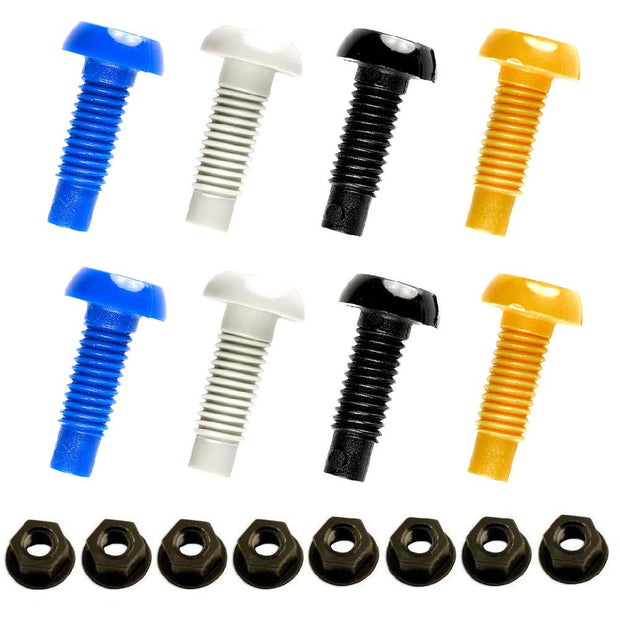 "Plastic Number Plate Nuts & Bolts (1"") 
