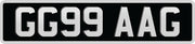 Pressed Metal Standard Oblong Number Plates