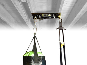 Ceiling Punching Bag Mount for Punching Bags between 60-120lbs With Suspension Trainer Mount