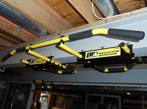 I-Beam Pull Up Bar 5 grip positions yellow