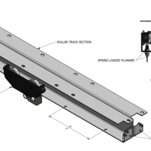 Load image into Gallery viewer, Spring Plunger Roller Mount Combo Track System
