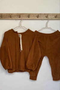 Brown Velour Set