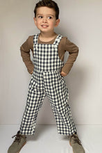 Load image into Gallery viewer, Gingham Check Dungarees