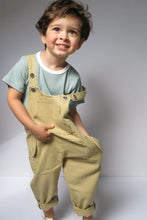 Load image into Gallery viewer, Beige Dungarees