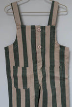 Load image into Gallery viewer, Green Striped Overalls