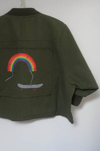 Khaki Rainbow Jacket